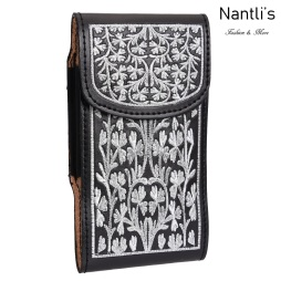 TM-48135 Fundas de piel Bordadas para celular Mayoreo Wholesale Embroidered Leather Cell phone cases Nantlis Tradicion de Mexico