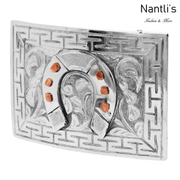 TM-52113 Hebilla charra mexicana de acero inoxidable Mayoreo Wholesale mexican stainless steel buckle Nantlis Tradicion de Mexico