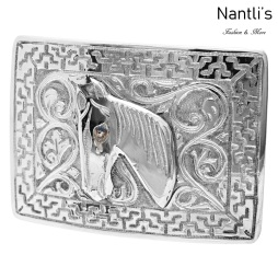 TM-52114 Hebilla charra mexicana de acero inoxidable Mayoreo Wholesale mexican stainless steel buckle Nantlis Tradicion de Mexico
