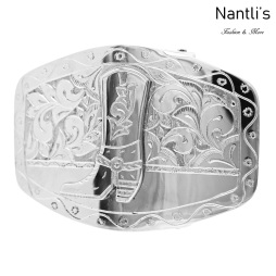 TM-52357 Hebilla charra mexicana de acero inoxidable Mayoreo Wholesale mexican stainless steel buckle Nantlis Tradicion de Mexico