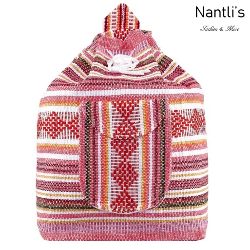 TM-74259 Mochila Mexicana Artesanal Rasta Mayoreo Wholesale Mexican Backpack Nantlis Tradicion de Mexico