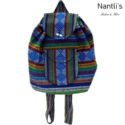 TM-74263 Mochila Mexicana Artesanal Rasta Mayoreo Wholesale Mexican Backpack Nantlis Tradicion de Mexico