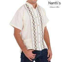 TM-78131 Camisa Bordada de hombre Mayoreo Wholesale Traditional Mexican Embroidered Shirt for men Nantlis Tradicion de Mexico