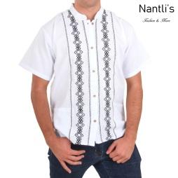 TM-78132 Camisa Bordada de hombre Mayoreo Wholesale Traditional Mexican Embroidered Shirt for men Nantlis Tradicion de Mexico