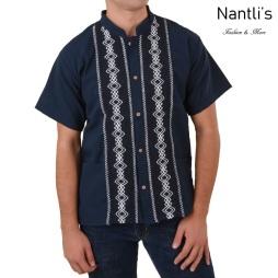 TM-78133 Camisa Bordada de hombre Mayoreo Wholesale Traditional Mexican Embroidered Shirt Nantlis for men Tradicion de Mexico