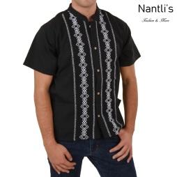TM-78134 Camisa Bordada de hombre Mayoreo Wholesale Traditional Mexican Embroidered Shirt for men Nantlis Tradicion de Mexico