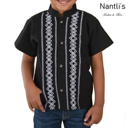 TM-78140 Camisa Bordada de nino Mayoreo Wholesale Traditional Mexican Embroidered Shirt for kids Nantlis Tradicion de Mexico