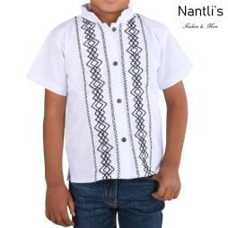 TM-78141 Camisa Bordada de nino Mayoreo Wholesale Traditional Mexican Embroidered Shirt for kids Nantlis Tradicion de Mexico
