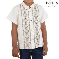 TM-78143 Camisa Bordada de nino Mayoreo Wholesale Traditional Mexican Embroidered Shirt for kids Nantlis Tradicion de Mexico