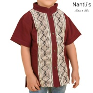 TM-78144 Camisa Bordada de nino Mayoreo Wholesale Traditional Mexican Embroidered Shirt for kids Nantlis Tradicion de Mexico