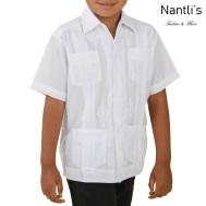 TM-78150 Camisa Guayabera de nino Mayoreo Wholesale Kids Traditional Mexican Shirt Nantlis Tradicion de Mexico