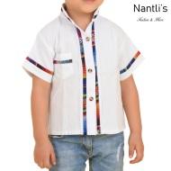 TM-78160 Camisa Bordada de nino Mayoreo Wholesale Traditional Mexican Embroidered Shirt for kids Nantlis Tradicion de Mexico