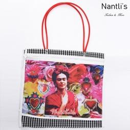 TM-90212 blanca Bolsa Tradicional Mexicana Frida kahlo Mayoreo Wholesale Mexican Tote Bag Nantlis Tradicion de Mexico
