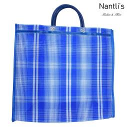 TM-90221 azul Bolsa Tradicional Mexicana Mayoreo Wholesale Mexican Tote Bag Nantlis Tradicion de Mexico