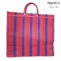 TM-90221 rosa Bolsa Tradicional Mexicana Mayoreo Wholesale Mexican Tote Bag Nantlis Tradicion de Mexico