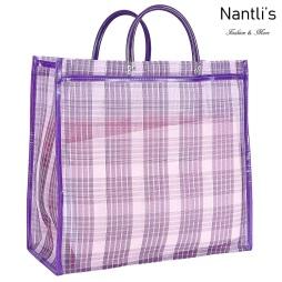TM-90221 violeta Bolsa Tradicional Mexicana Mayoreo Wholesale Mexican Tote Bag Nantlis Tradicion de Mexico