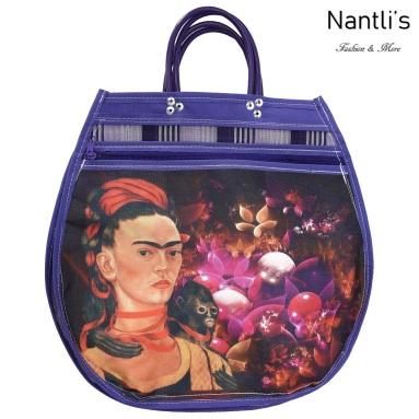 TM-90243 Bolsa Tradicional Mexicana Frida kahlo Mayoreo Wholesale Mexican Tote Bag Nantlis Tradicion de Mexico