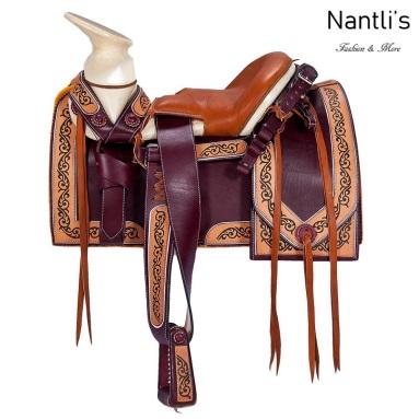 TM-62114 Silla de montar para caballo montura charra mayoreo wholesale Mexican horse Saddle Nantlis Tradicion de Mexico