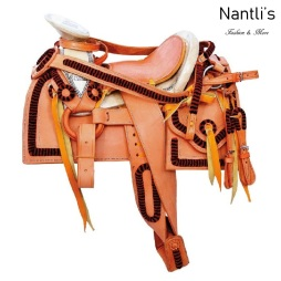 TM-63511 Silla de montar para caballo pony montura charra mayoreo wholesale Mexican horse Saddle Nantlis Tradicion de Mexico