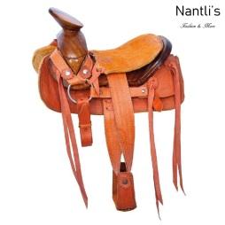 TM-63521 Silla de montar para caballo pony montura charra mayoreo wholesale Mexican horse Saddle Nantlis Tradicion de Mexico