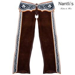 TM-85318 chaparreras navajeadas de gamuza mayoreo wholesale Suede leather fine chaps Nantlis Tradicion de Mexico