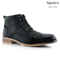 Botas para Hombre FA-COLIN Black Mayoreo Wholesale Men's Fashion Boots Nantlis