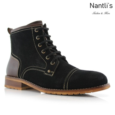 Botas para Hombre FA-RUFUS Black Mayoreo Wholesale Men's Fashion Boots Nantlis