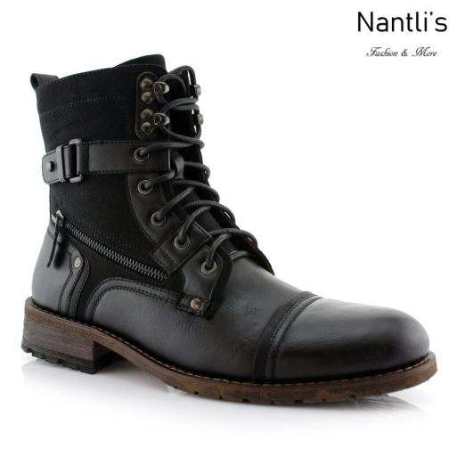 Botas para Hombre PF-ASHER Black Mayoreo Wholesale Men's Fashion Boots Nantlis