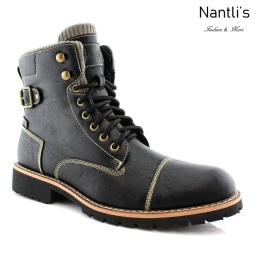 Botas para Hombre PF-BRADY Black Mayoreo Wholesale Men's Fashion Boots Nantlis