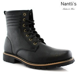 Botas para Hombre PF-BRIAN Black Mayoreo Wholesale Men's Fashion Boots Nantlis