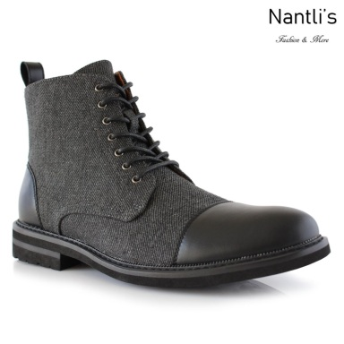 Botas para Hombre PF-BROOKE Black Mayoreo Wholesale Men's Fashion Boots Nantlis