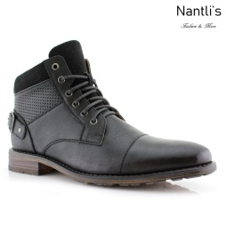 Botas para Hombre PF-CHRISTOPHER Black Mayoreo Wholesale Men's Fashion Boots Nantlis