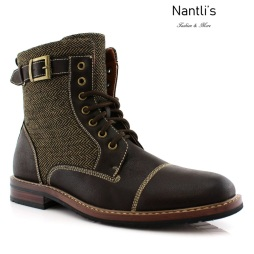 Botas para Hombre PF-ELIJAH Brown Mayoreo Wholesale Men's Fashion Boots Nantlis