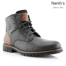 Botas para Hombre PF-HOMER Black Mayoreo Wholesale Men's Fashion Boots Nantlis