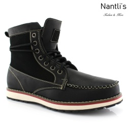 Botas para Hombre PF-JASPER Black Mayoreo Wholesale Men's Fashion Boots Nantlis