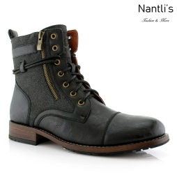 Botas para Hombre PF-KANYE Black Mayoreo Wholesale Men's Fashion Boots Nantlis
