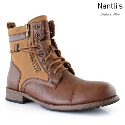 Botas para Hombre PF-KANYE Dark Brown Mayoreo Wholesale Men's Fashion Boots Nantlis