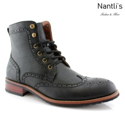 Botas para Hombre PF-LARRY Black Mayoreo Wholesale Men's Fashion Boots Nantlis