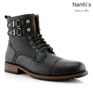 Botas para Hombre PF-MITCH Black Mayoreo Wholesale Men's Fashion Boots Nantlis