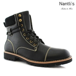 Botas para Hombre PF-NICHOLAS Black Mayoreo Wholesale Men's Fashion Boots Nantlis