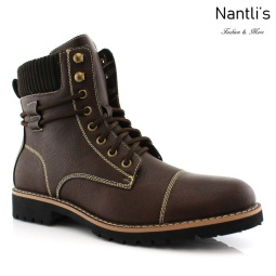 Botas para Hombre PF-NICHOLAS Brown Mayoreo Wholesale Men's Fashion Boots Nantlis