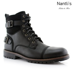 Botas para Hombre PF-PATRICK Black Mayoreo Wholesale Men's Fashion Boots Nantlis
