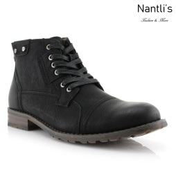Botas para Hombre PF-RONNY Black Mayoreo Wholesale Men's Fashion Boots Nantlis
