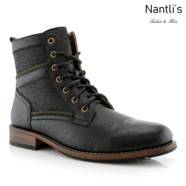 Botas para Hombre PF-ROY Black Mayoreo Wholesale Men's Fashion Boots Nantlis
