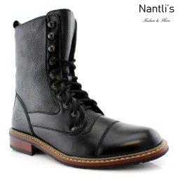 Botas para Hombre PF-WALTER Black Mayoreo Wholesale Men's Fashion Boots Nantlis