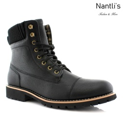 Botas para Hombre PF-WILSON Black Mayoreo Wholesale Men's Fashion Boots Nantlis
