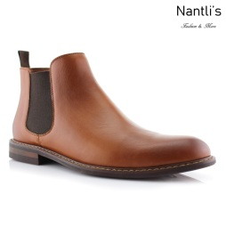 Botines para Hombre PF-BARRET Brown Mayoreo Wholesale Men's Fashion Chelsea Boots Nantlis