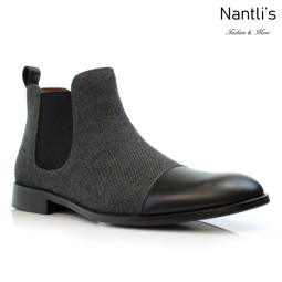 Botines para Hombre PF-FORBES Black Mayoreo Wholesale Men's Fashion Chelsea Boots Nantlis
