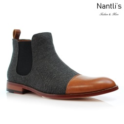 Botines para Hombre PF-FORBES Brown Mayoreo Wholesale Men's Fashion Chelsea Boots Nantlis