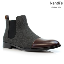 Botines para Hombre PF-FORBES Dark Brown Mayoreo Wholesale Men's Fashion Chelsea Boots Nantlis